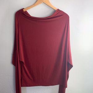 Moda International Red Long Sleeve Top